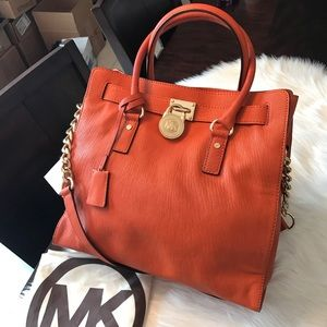 🍊AUTHENTIC Michael kors leather Hamilton handbag