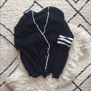 L.A.M.B Navy Blue Varsity Sweater size M/L