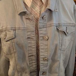 Kensie Jeans Light Grey Denim Jacket