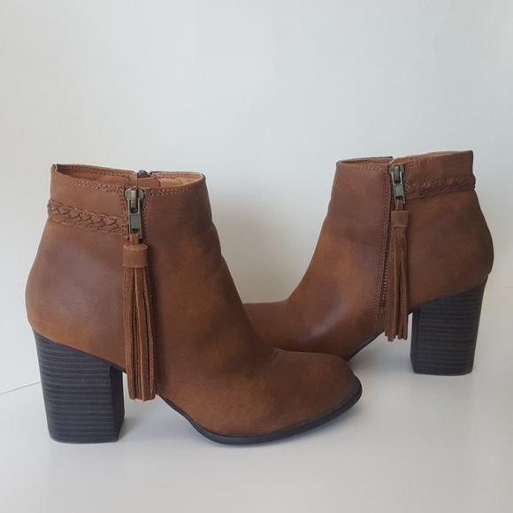 f0f6b317a2c Esprit Shoes - Espirit Brown Tassle Booties