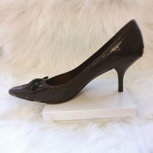 Anne Klein Shoes - Anne Klein Patent Leather & Snakeskin Pumps
