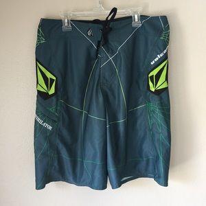 Teal & Green Boardshorts