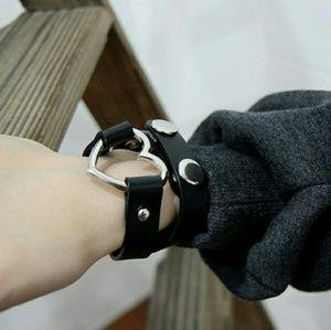 Jewelry - Black choker with silver heart.Choker and bracelet