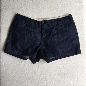 Club Monaco Dark Blue Denim Jean Shorts