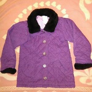 DRESSY, COMFY/WARM PURPLE LINED COAT