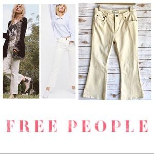 FREE PEOPLE Cream Jeans