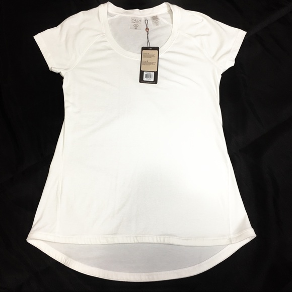 ece5a160741c3 Calia Core Jersey White Tee T-shirt NWT by Carrie