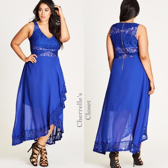 Nordstrom City Chic Chiffon Maxi Dress Plus Size | Poshmark