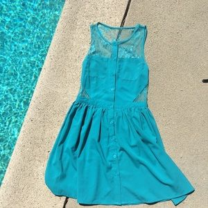 Dresses & Skirts - Super cute teal skater style dress!