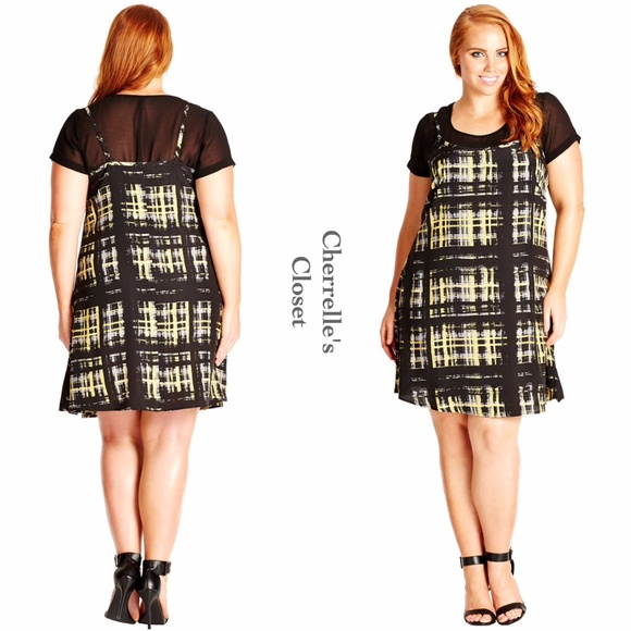 City Chic Dresses 90s Style Shift Dress Plus Size 14 16 Poshmark