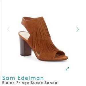 0ffacffa8821 Sam Edelman Shoes - 🍂Sam Eldman suede fringe open toe booties 🍁🍂