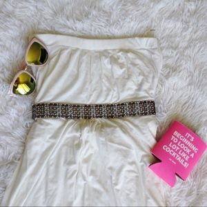 MISS ME white strapless empire waist top NWT