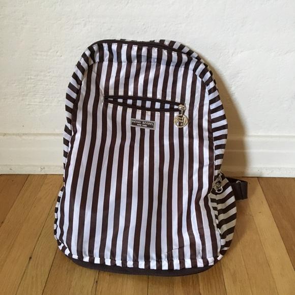 b01b4a88fd1a henri bendel Handbags - Henri Bendel Striped Backpack - zips into itself!