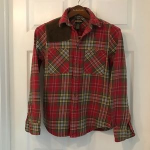 Flannel Plaid Shirt, Rugby Ralph Lauren