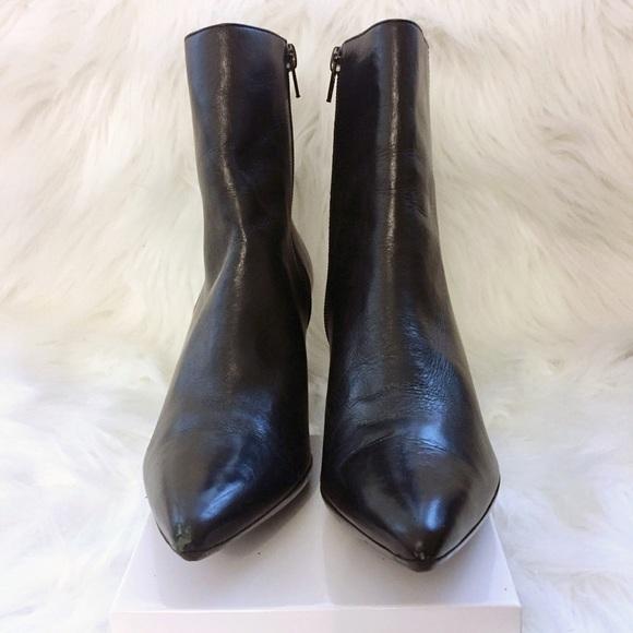 Via Spiga Shoes - Via Spiga Black Leather Booties