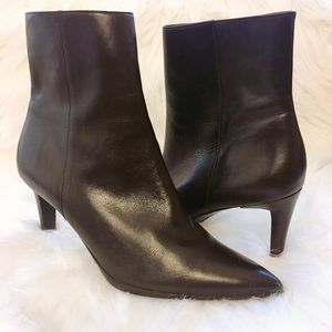 Via Spiga Black Leather Booties