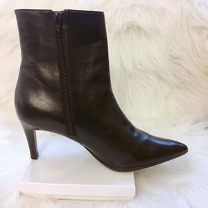 Via Spiga Shoes - Via Spiga Black Leather Booties