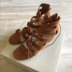 Size 11W Marc Fisher sandals worn once