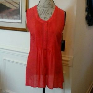 NEW FYLO LONDON Coral Sleeveless Top Small S