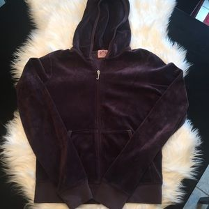 Purple Juicy Couture zip up, size M