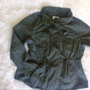 OLD NAVY green long sleeve utilitarian jacket