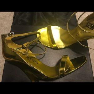 YSL platform sandals shoes NWT