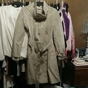 Stella McCartney funnel neck trench coat