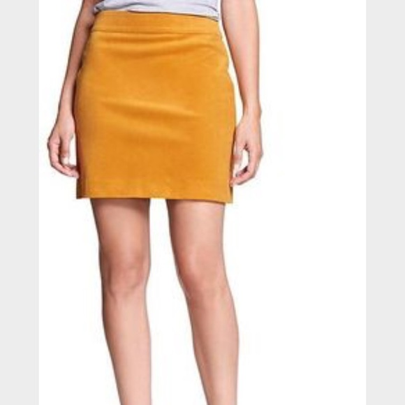 9bd2baa967 Banana Republic Dresses & Skirts - Banana Republic Yellow Corduroy Mini  Skirt