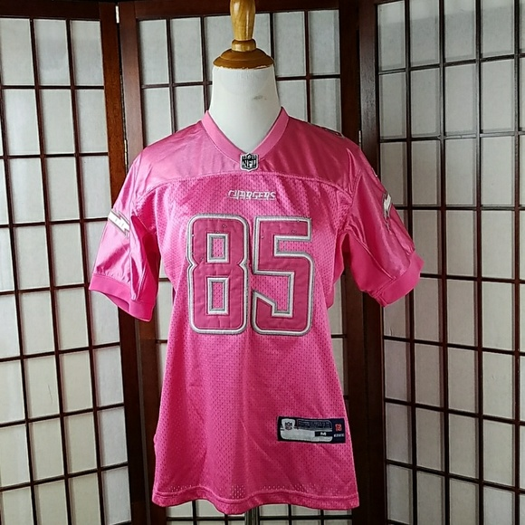 best loved 59c3a 67b07 Antonio Gates Pink NFL 85 Women's Football Jersey