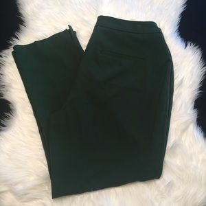Dark green Coldwater Creek ankle pants, size 14