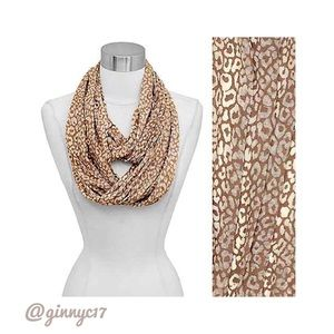 Classic Must! Taupe Leopard Print Infinity Scarf