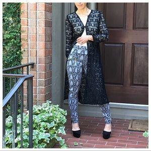 Jackets & Blazers - 🆕 Fall black lace duster