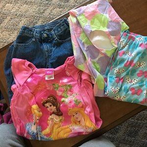 Other - Girls bundle. Dress, jeans, 1 pj bottoms  1 pj's