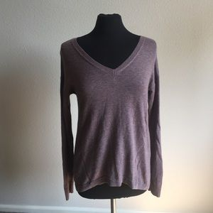The Limited Vneck Mauve Sweater