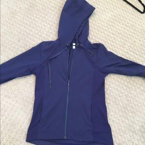 Lululemon navy blue windbreaker hoodie jacket.