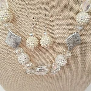 PRICE DROP!  2x Host Pick White Resin Necklace Set