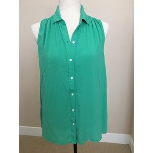 🌻🌷Cute, jade green sleeveless shirt