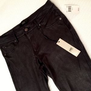 "ABS  NEW Black ""leather look"" skinny pants"