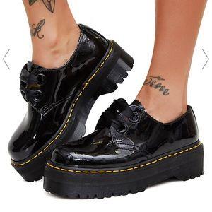 Dr Martens holly black patent leather. 9 UK 11 US