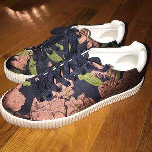 Zara Floral Sneakers
