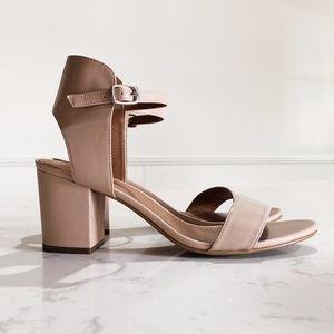 Trista Open Toe Sandal Nude Patent