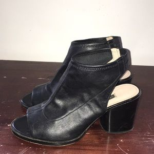 French Connection open toe mule platform