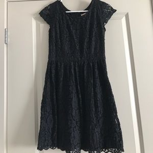 NWT Alythea black lace cap-sleeve dress