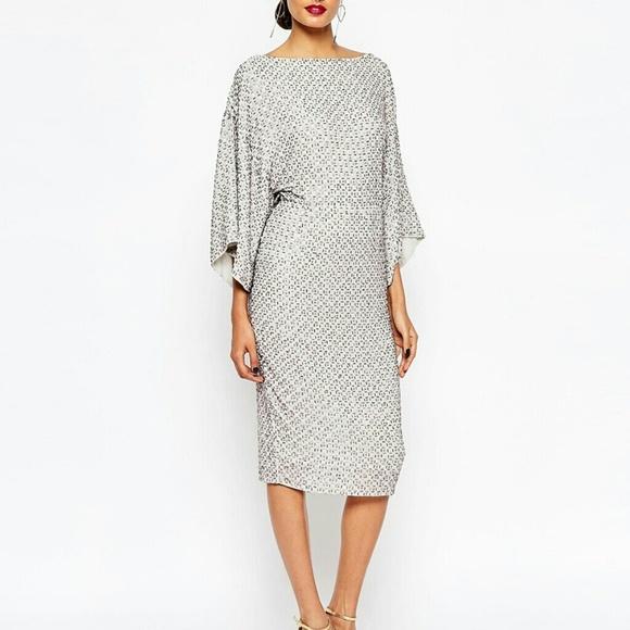eeea83264c1 Asos Dresses   Skirts - ASOS Red Carpet Sequin Grid Kimono Dress
