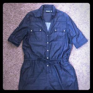 🆕 listing! Denim short-sleeved jumpsuit