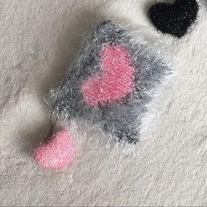 Handbags - HP!💘Heart Pom Mini Pouch |Pink|135