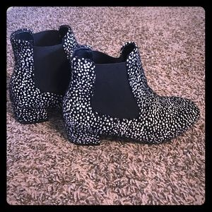 N.Y.L.A Black and White Boots