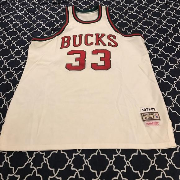 buy online 46576 34abf 1971-1972 Milwaukee Bucks Jersey (Kareem Jabbar)