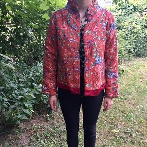 Nataya embroidered red jacket