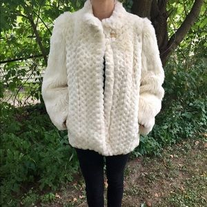 Jackets & Blazers - Vintage white fur coat